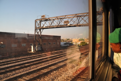 Amtrak into Chicago